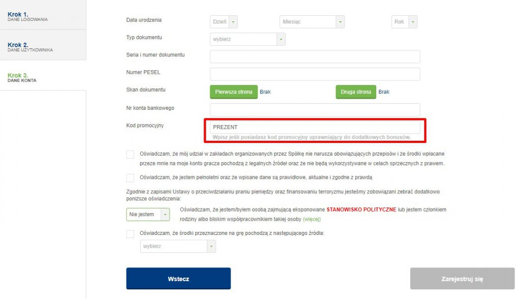 rejestracja w forBET i kod promocyjny forBET