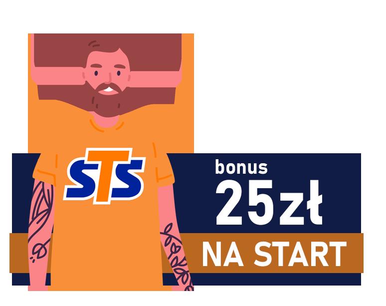 bonus 25 zł bez depozytu od sts
